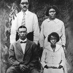 Amsee, Jimmie, Lawrence and Leanna Favors - Yr., About 1917.  Leanna died shortly after picture was taken.