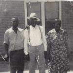 L/R: Jim (MC), Amsee & Jimmie Favors in front of their home in Bethlehem, Texas